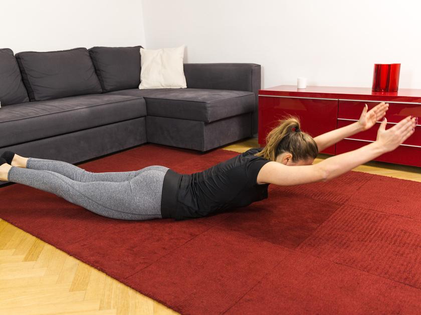 Rückenprobleme können mit gezieltem Training gelindert werden.