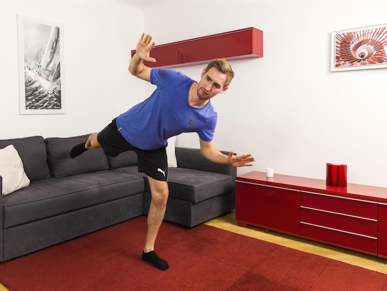 Gleichgewichtsübungen fordern deine Tiefenmuskulatur.