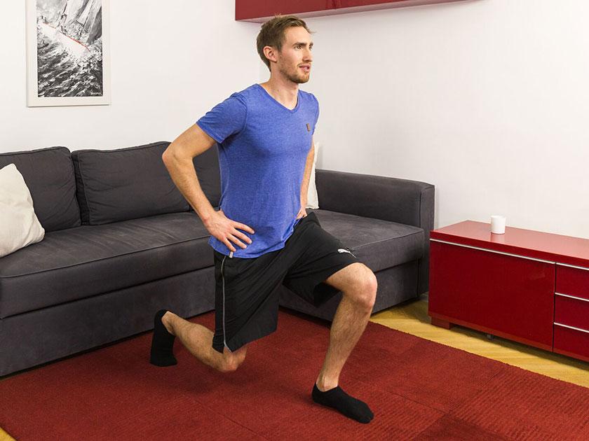 Ausfallschritte für dein Workout zuhause.
