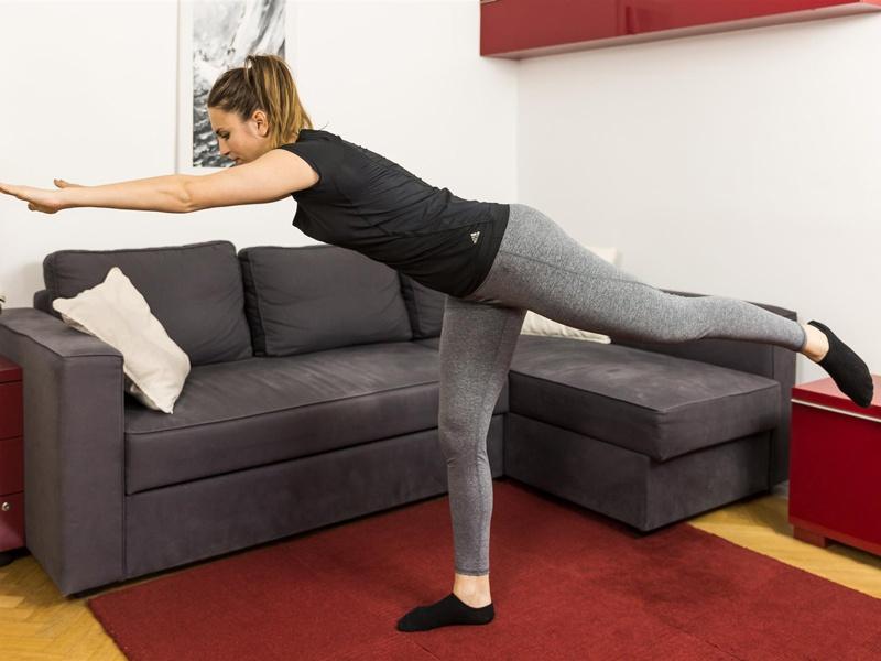 Die Standwaage - Gleichgewichtsübungen für eine gute Balance.