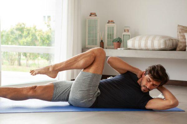 Teste und trainiere Bauch, Beine, Po mit dem go4health Fitnesstest.