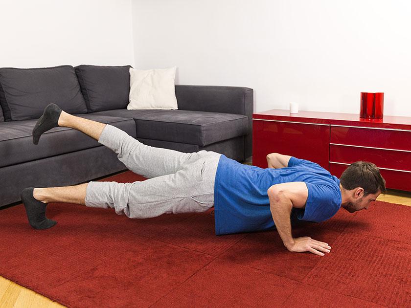 Leg Wert auf ausreichend Bewegung und das Verbrennen von Kalorien. Dann klappt