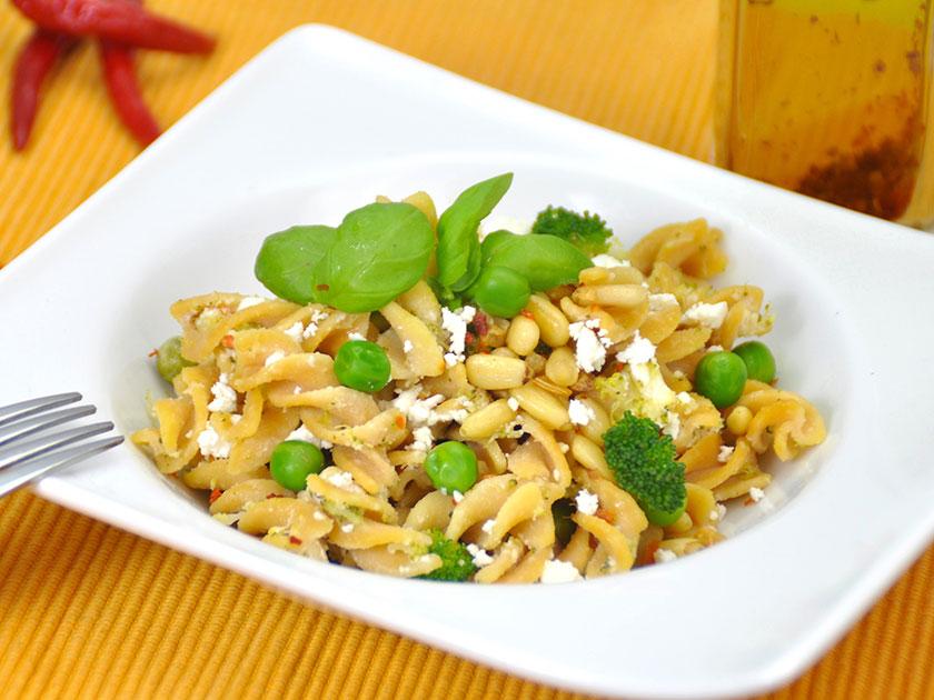 Die kohlenhydratreiche go4health Pasta ist ein leistungssteigerndes Essen vor dem Sport.