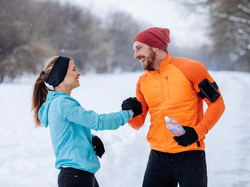 Gemeinsames Joggen bringt euch fit durch den Winter.