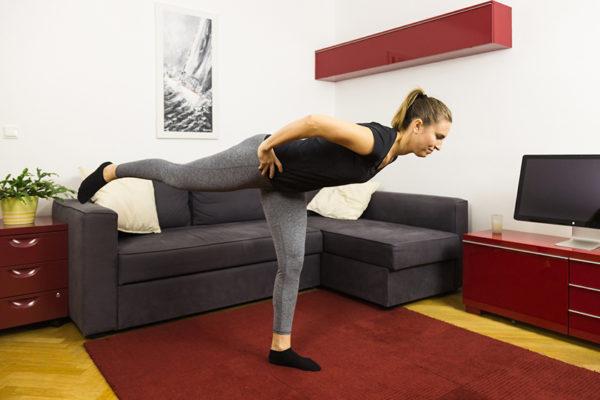 Gleichgewichtstraining verbessert die Stabilität des Körpers.