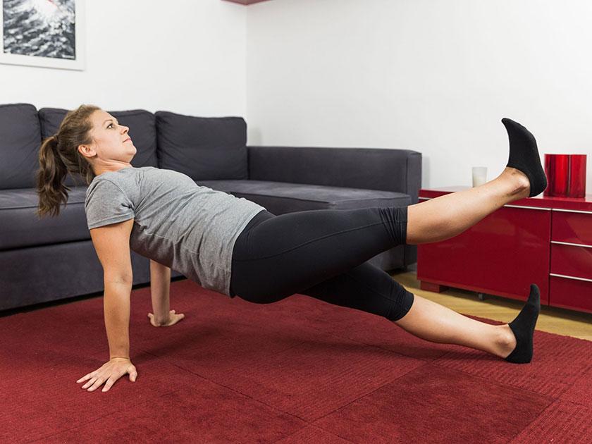 Planken hilft die Rumpfmuskulatur nachhaltig zu entwickeln.