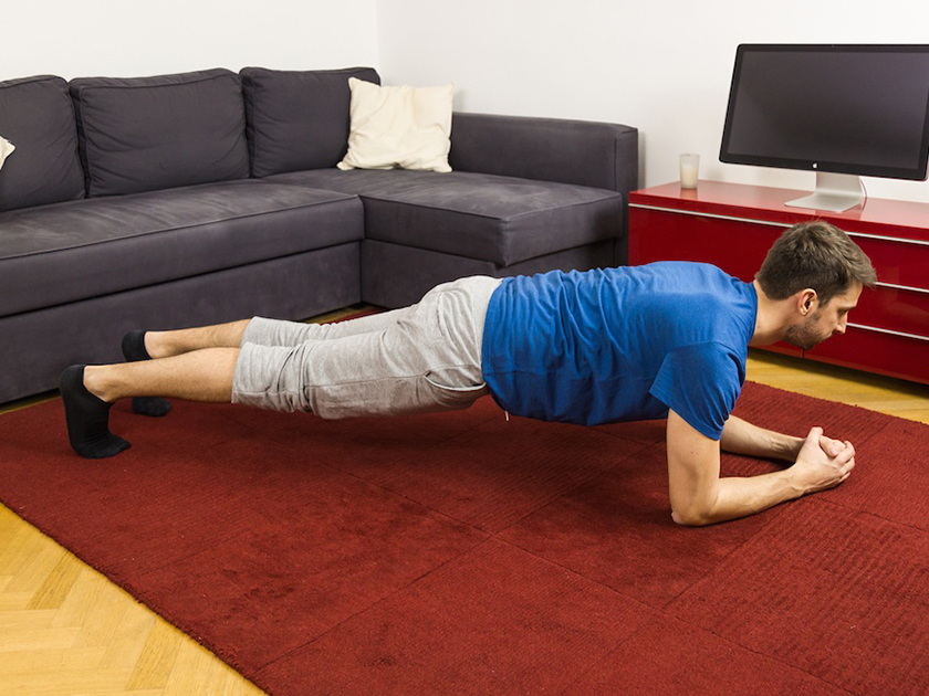 Beim Unterarmstütz wird dein gesamter Körper gestärkt.