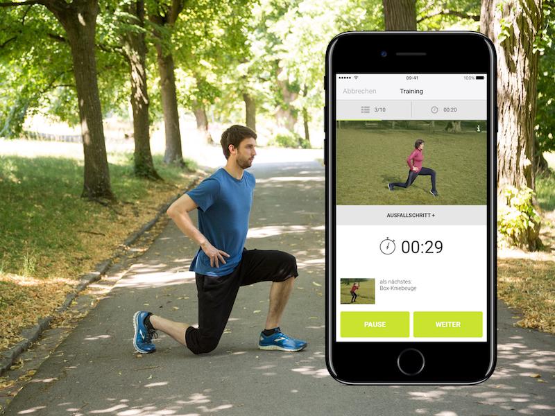 Die go4health App erleichtert dir mit Trainingsplänen deinen Wiedereinstieg nach der Trainingspause.