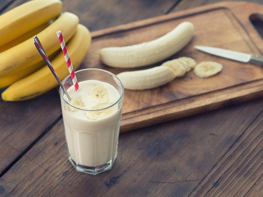 Der go4health Muskelstark-Mocktail ist ein leckerer und gesunder Post-Workout-Snack.