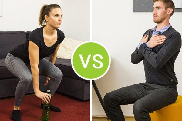 Ob in der Arbeit oder zuhause - mit der go4health App kannst du dein Fitnessprogramm überall umsetzen.