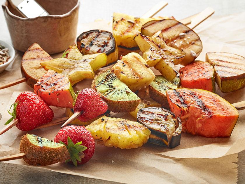 go4health Grilltipp: Gegrillte Früchte eignen sich perfekt als Nachtisch.