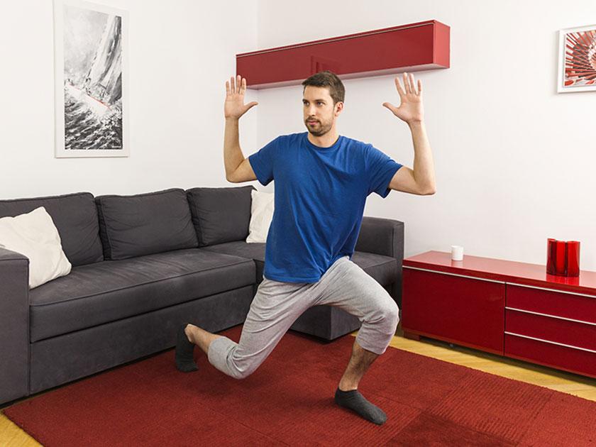 Ausfallschritte sorgen für bewegliche Gelenke.