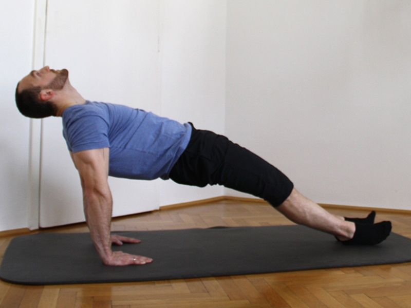 Hüftheben zur Rückenstärkung