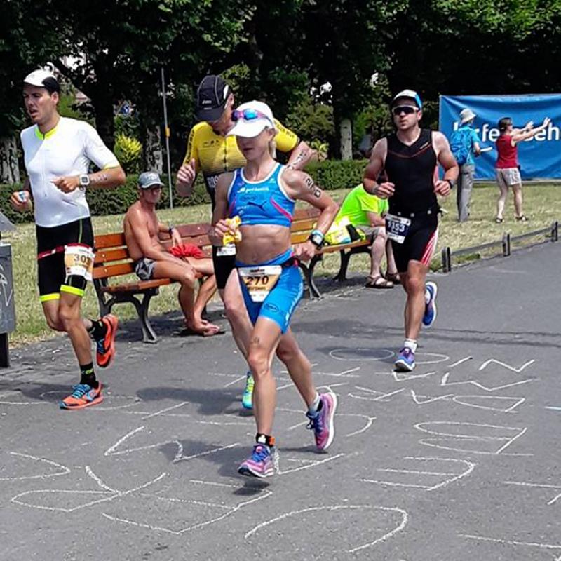 Bald im Ziel! go4health gratuliert Mirjam Muckenhuber zu ihrer Leistung beim Triathlon