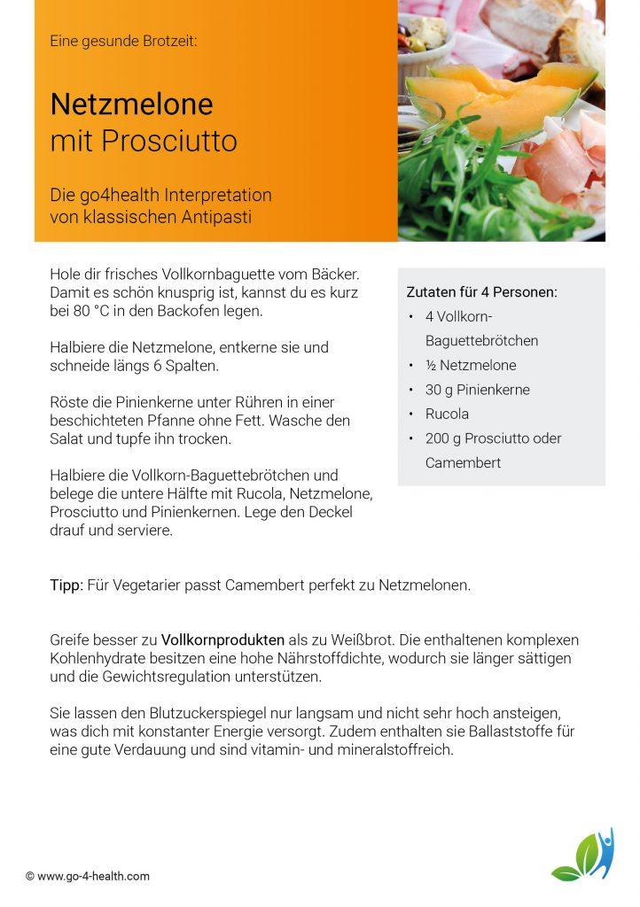 Gesunde Antipasti: Rezept für Melone mit Prosciutto