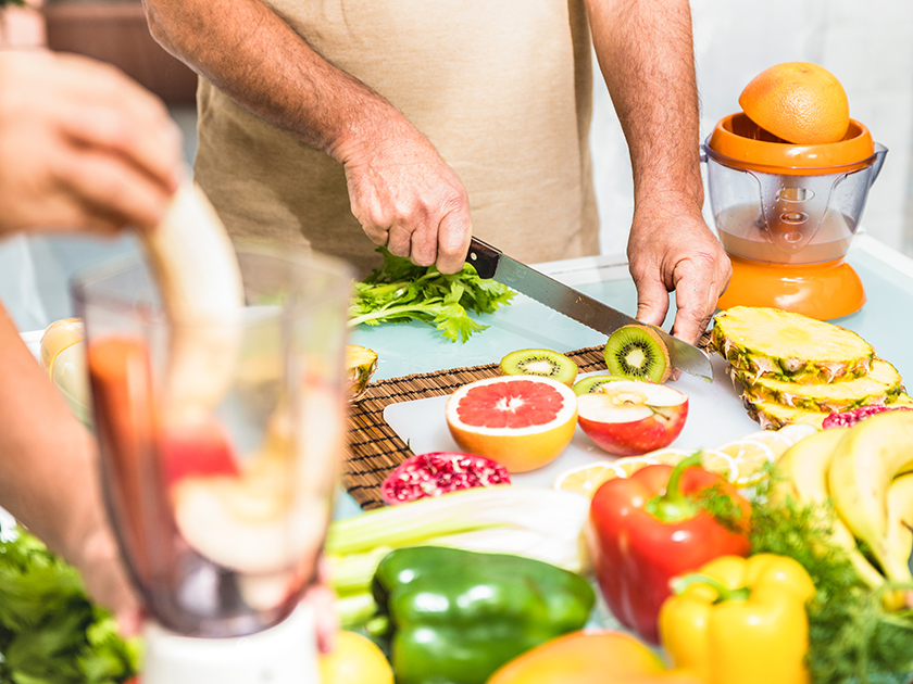 Reichlich Mikronährstoffe stecken in Zitrusfrüchten, Kiwi und Paprika.