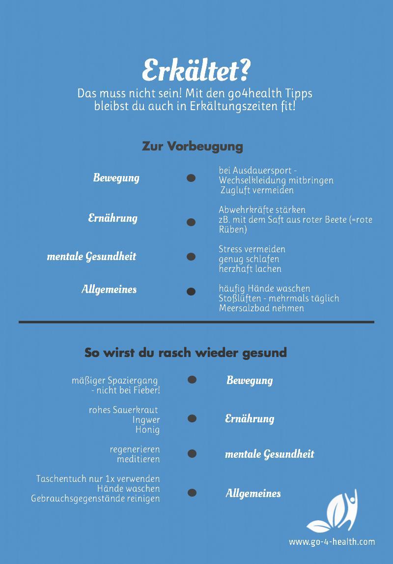 Infografik gegen Erkältungen