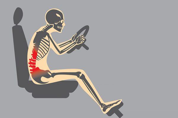 Autofahrten belasten den Rücken