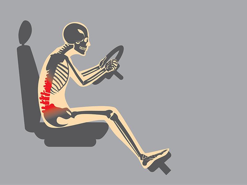 Rückentipps für lange Autofahrten