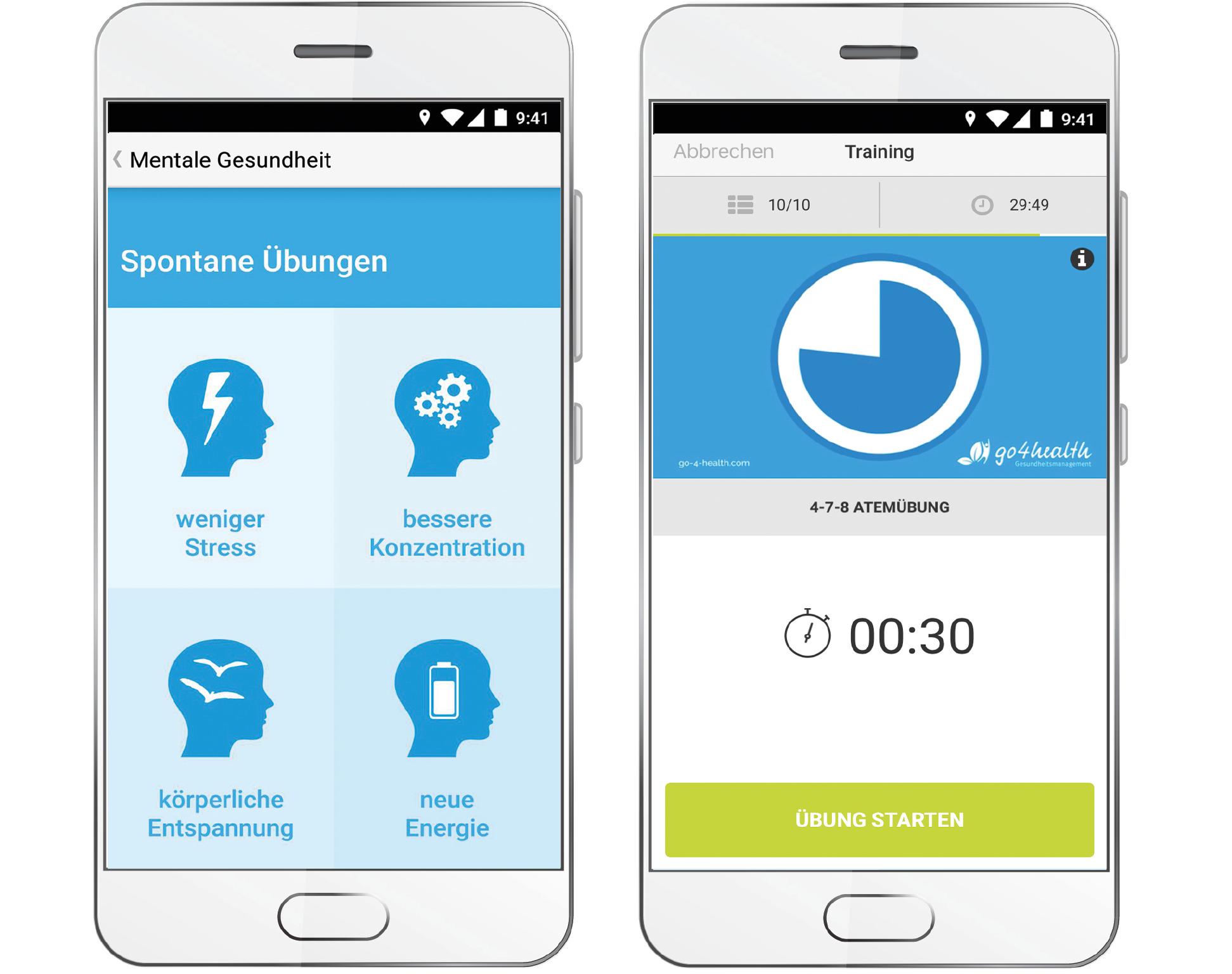 Innere Ruhe finden in wenigen Minuten – mit der go4health App!