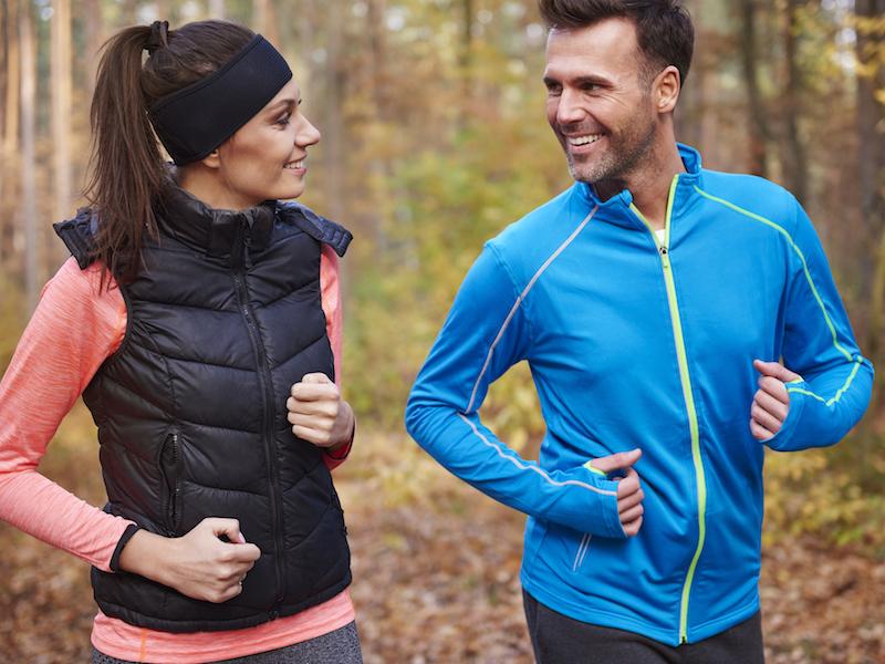 Herbstkleidung und Sport