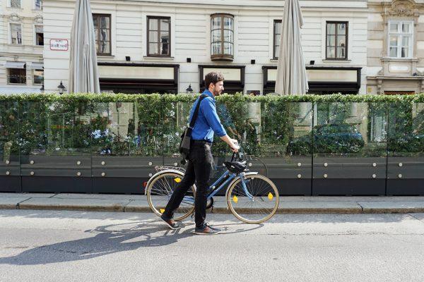 go4health bewegt am Fahrrad.