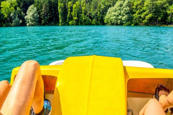 Tretbootfahren - Spaß und Kräftigung für die Beine!