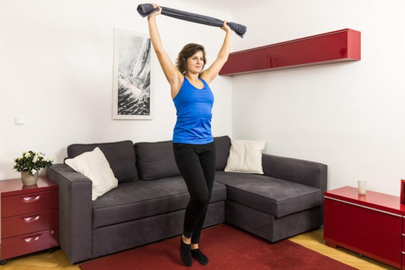 Der Trizepslift hilft, Rückenverspannungen zu reduzieren.