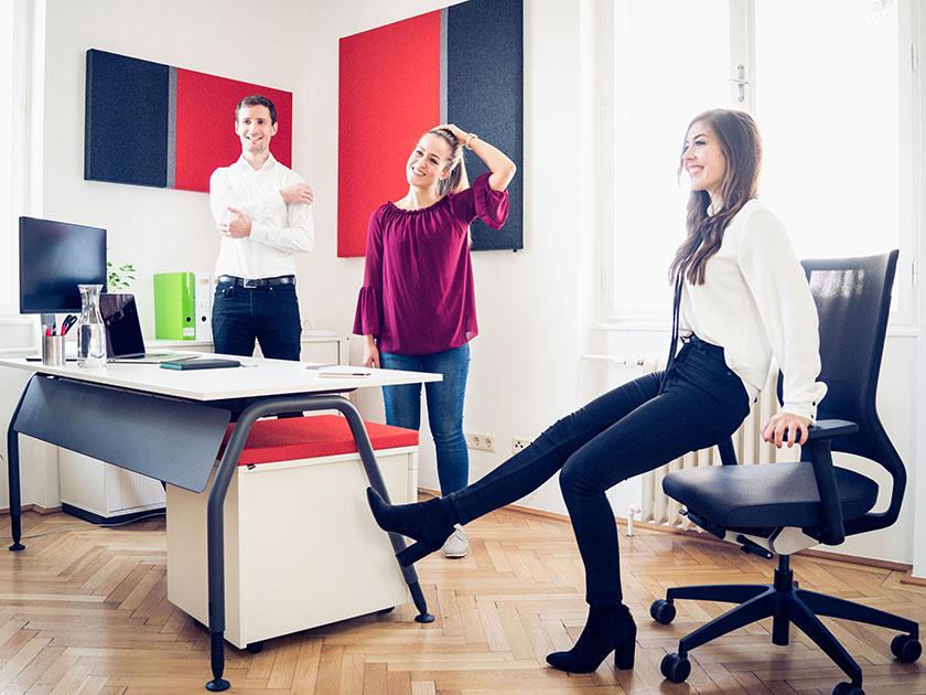 Der go4health Trainingsplan wirkt negativen Effekten von langem Sitzen entgegen.