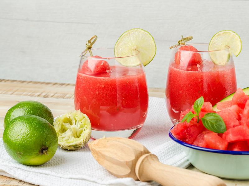 Der go4health Wassermelonen-Spritzer ist ein erfrischender und gesunder Snack.