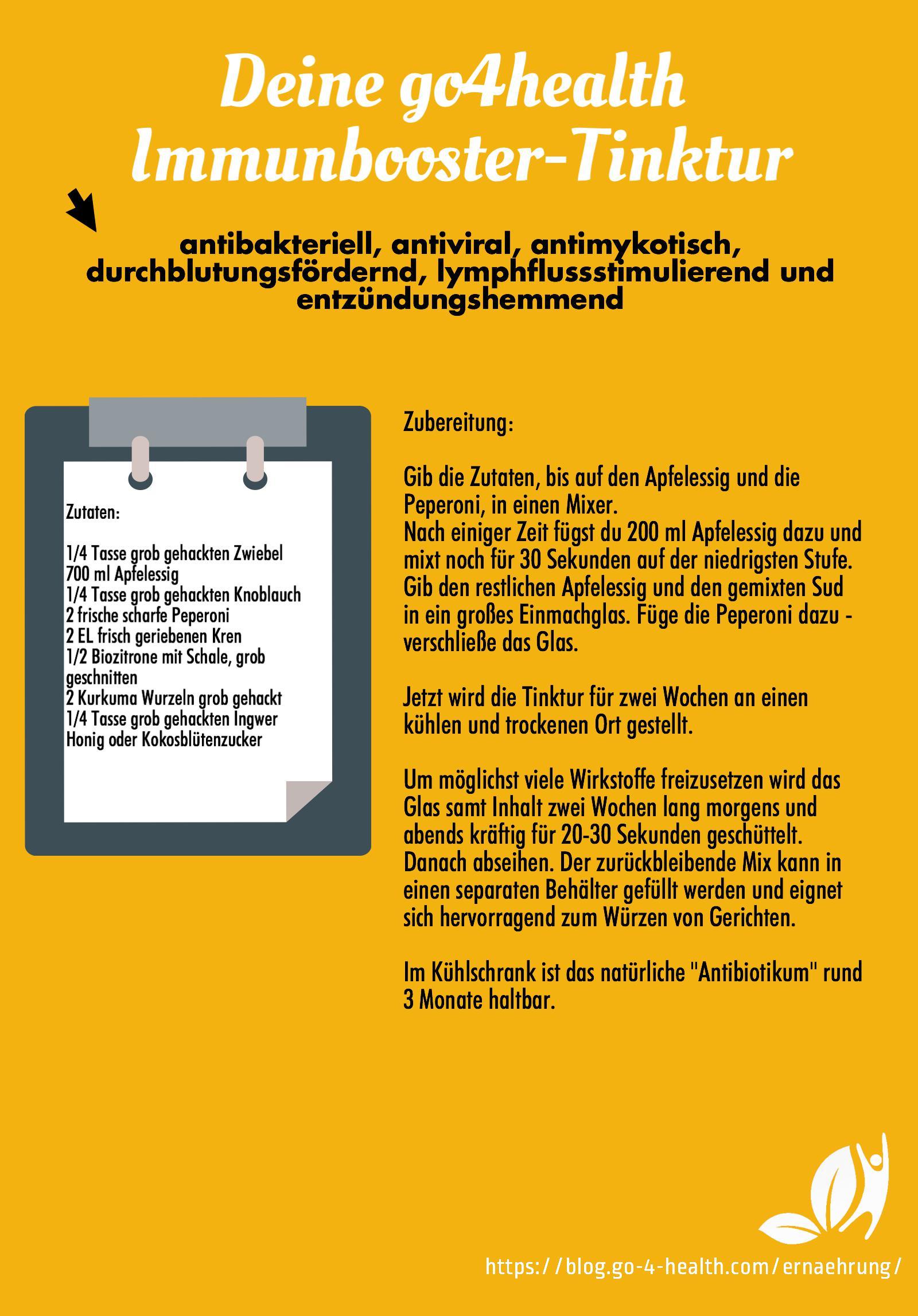 Die go4health Immunbooster-Tinktur