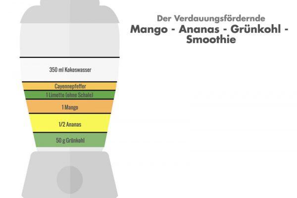 Dein Mango-Ananas-Grünkohl-Smoothie.