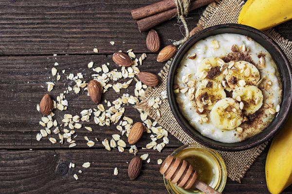 go4health Soulfood: Dinkelgrieß, Zimt, Banane und Kokosblütensirup