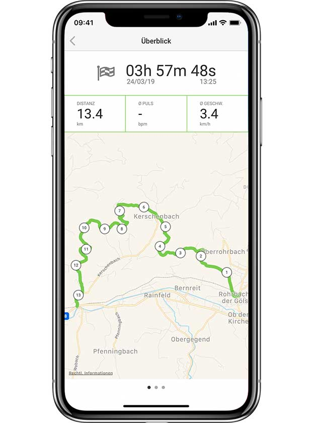 Training mit go4health App aufzeichnen und Sportmotivation erhöhen.