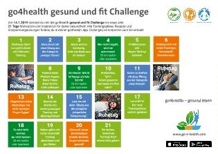 go4health Challenge Kalender