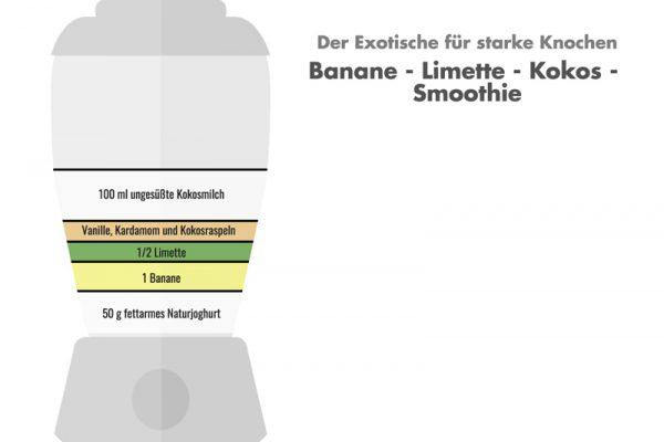 Exotischer go4health Smoothie für starke und gesunde Knochen