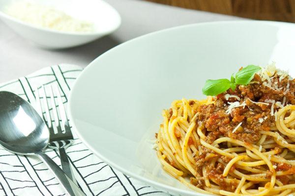 go4health Spaghetti Bolognese mit Rindfleisch und Gemüse