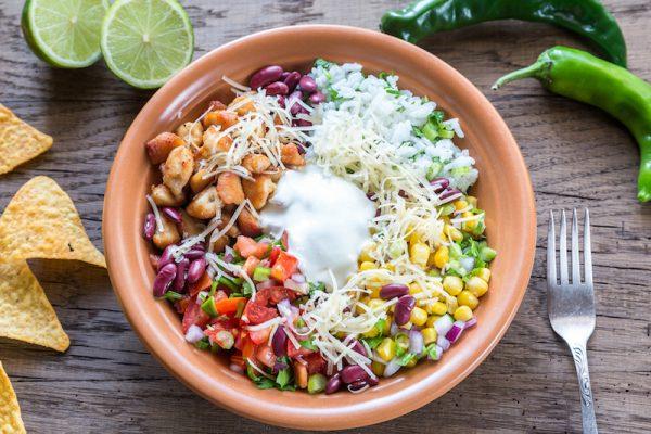 Die feurige Burrito Bowl macht dein Essen zur Fiesta!