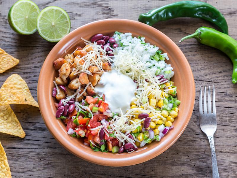 Feurige Burrito Bowl