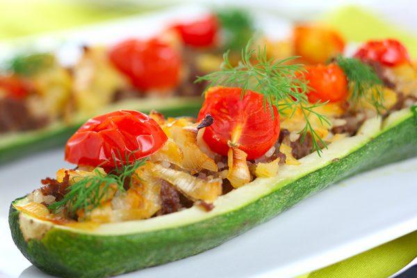 go4health Sommerrezept: Gefüllte Zucchini