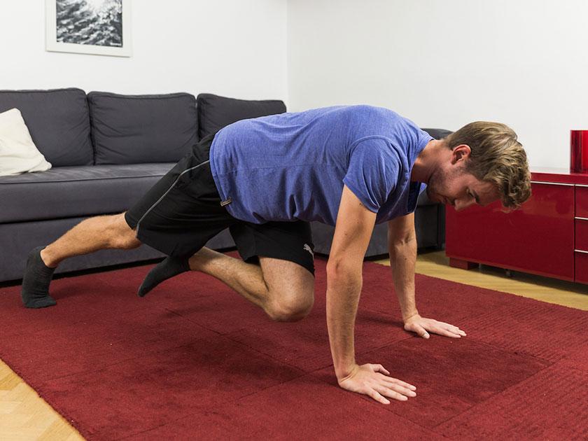 Die Königsklasse des Plank: der Mountain-Climber.