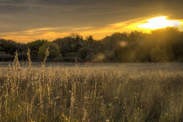 Tagesabschluss bei Sonnenuntergang