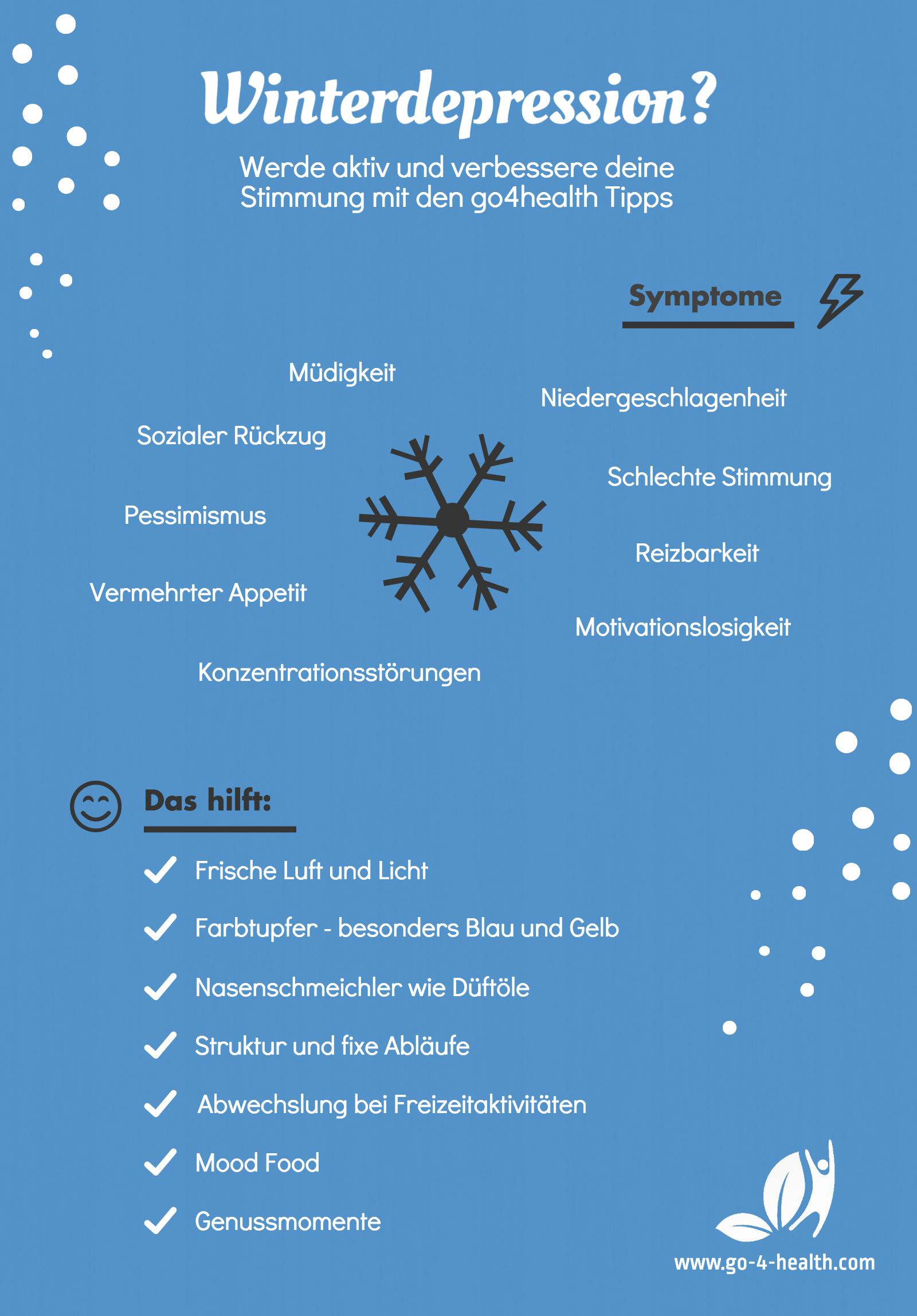 Im Winter kann es zu einer Depression kommen - was tun?